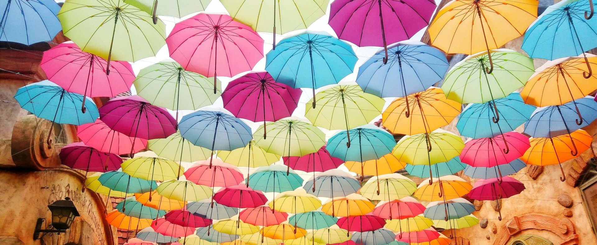 Colorful umbrellas, South Korea