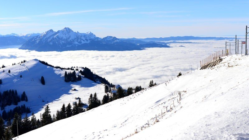 Private Day Trip to Mount Pilatus in Fall, Winter &  Spring